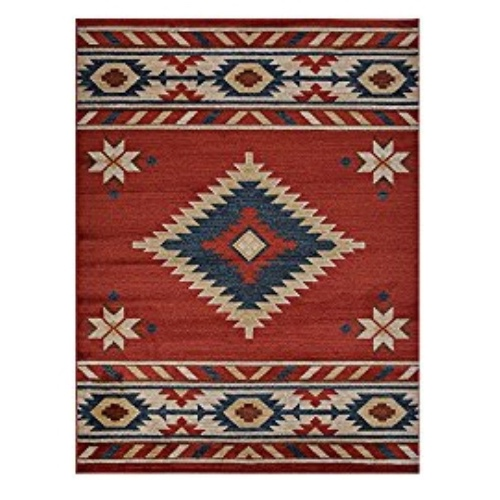 Nevita Collection Southwestern Native American Design Area Rug A